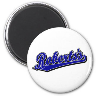 Roberts's in Blue Fridge Magnets
