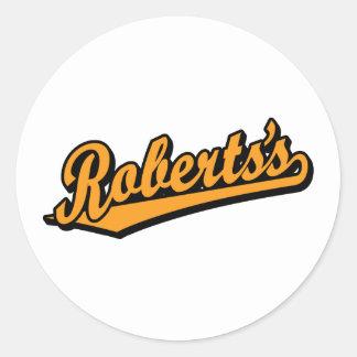 Roberts's in Orange Round Stickers