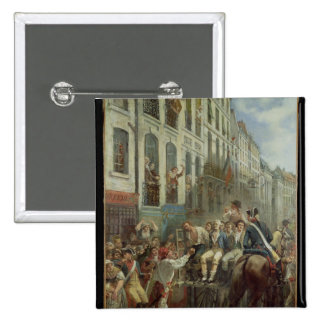 Robespierre  and Saint-Just 15 Cm Square Badge