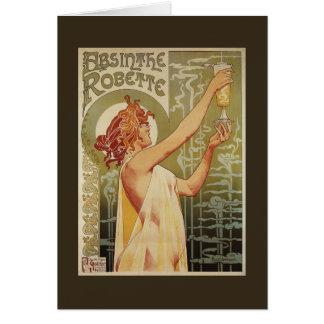 Robette Absinthe Advertisement Poster Card