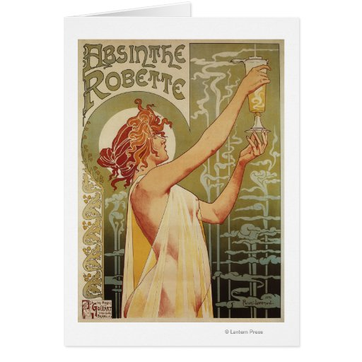 Robette Absinthe Advertisement Poster Greeting Cards