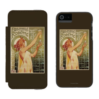 Robette Absinthe Advertisement Poster Incipio Watson™ iPhone 5 Wallet Case