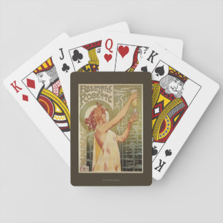 Robette Absinthe Advertisement Poster Playing Cards