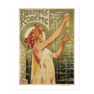 Robette Absinthe Advertisement Poster Postcard