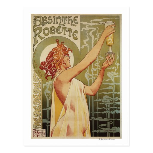 Robette Absinthe Advertisement Poster Post Cards