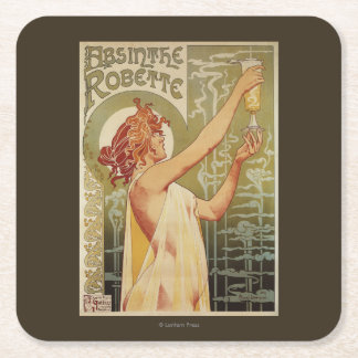 Robette Absinthe Advertisement Poster Square Paper Coaster
