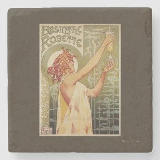 Robette Absinthe Advertisement Poster Stone Beverage Coaster