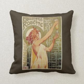 Robette Absinthe Advertisement Poster Throw Pillow