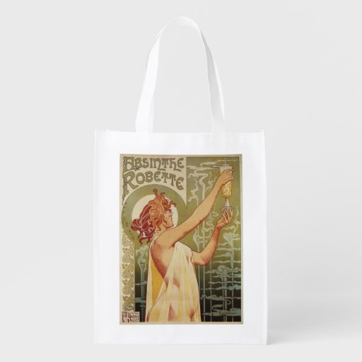 Robette Absinthe Advertisement Poster Grocery Bag