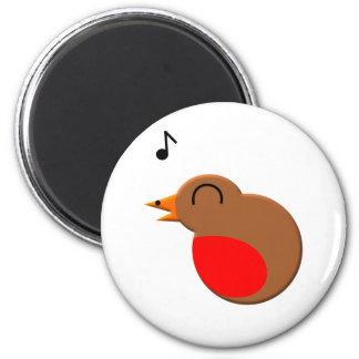 robin 6 cm round magnet