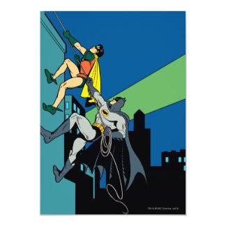 Robin And Batman Climb 13 Cm X 18 Cm Invitation Card