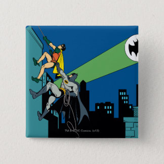 Robin And Batman Climb 15 Cm Square Badge