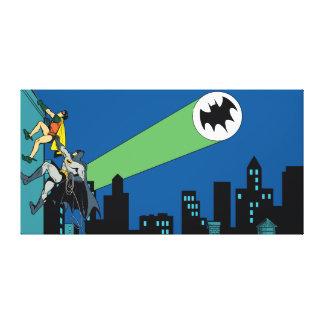 Robin And Batman Climb Canvas Print