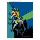 Robin And Batman Climb Card