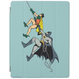 Robin And Batman Climb iPad Cover