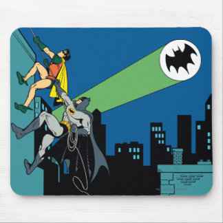 Robin And Batman Climb Mouse Mat