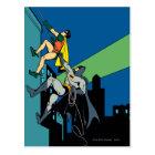 Robin And Batman Climb Postcard