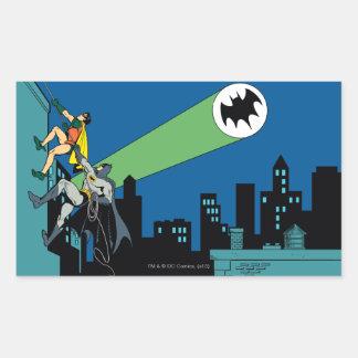 Robin And Batman Climb Rectangular Sticker