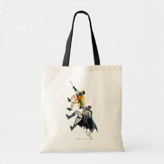 Robin And Batman Climb Tote Bag