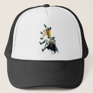 Robin And Batman Climb Trucker Hat