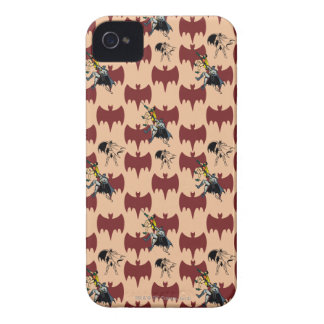 Robin And Batman Climbing Pattern Case-Mate iPhone 4 Cases