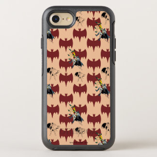 Robin And Batman Climbing Pattern OtterBox Symmetry iPhone 8/7 Case