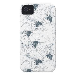 Robin And Batman Climbing Scribble Pattern iPhone 4 Case