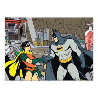 Robin And Batman Handshake Card