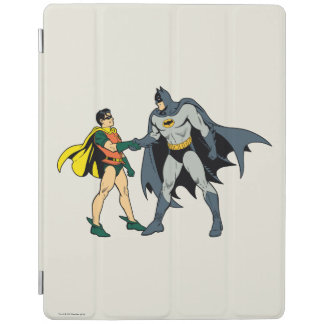 Robin And Batman Handshake iPad Cover