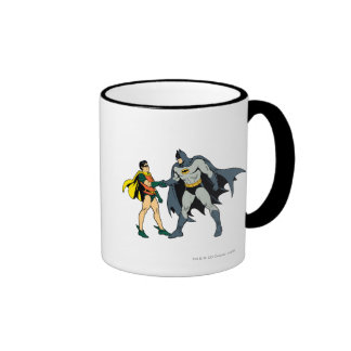 Robin And Batman Handshake Ringer Mug