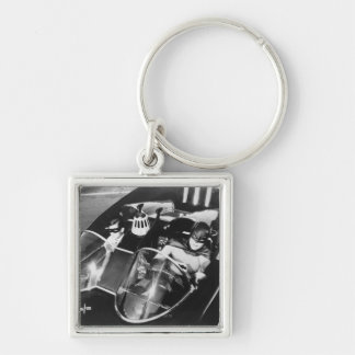 Robin and Batman in Batmobile Key Ring