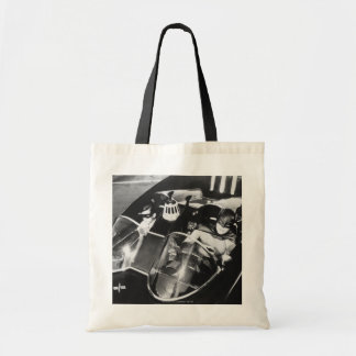 Robin and Batman in Batmobile Tote Bag