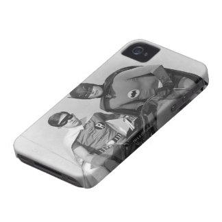 Robin and Batman Standing in Batmobile iPhone 4 Case