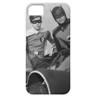 Robin and Batman Standing in Batmobile iPhone 5 Case