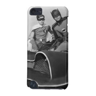 Robin and Batman Standing in Batmobile iPod Touch 5G Cover