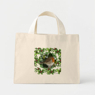Robin and Holly Mini Tote Bag