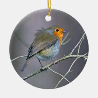Robin Bauble Christmas Ornament