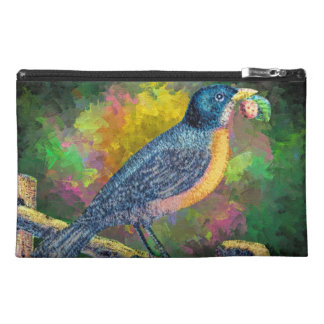 Robin Bird Abstract Painting Travel Accessory Bag