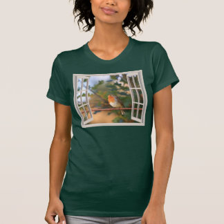 Robin Bird at Window T-Shirt