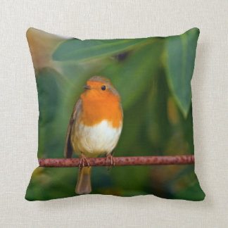 Robin bird throw pillow