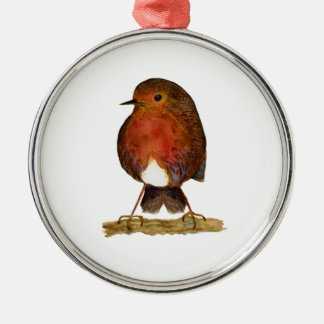 Robin Bird Watercolor Painting Artwork Christmas Ornament