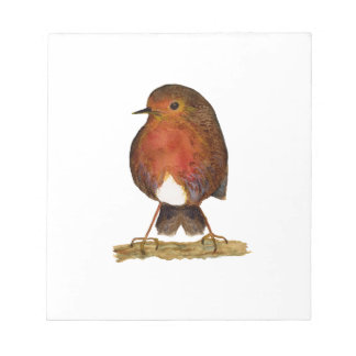 Robin Bird Watercolor Painting Artwork Notepad