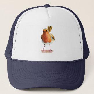 Robin Bird Watercolor Painting Trucker Hat