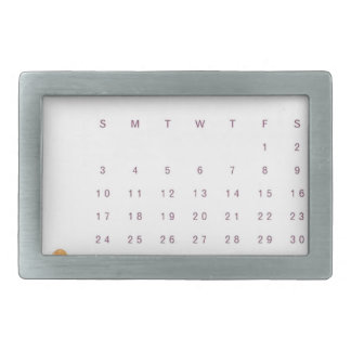 Robin Calendar Belt Buckle