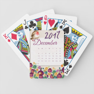 Robin Calendar Bicycle Playing Cards