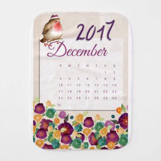 Robin Calendar Burp Cloth
