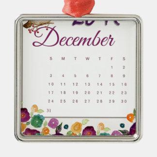 Robin Calendar Christmas Ornament