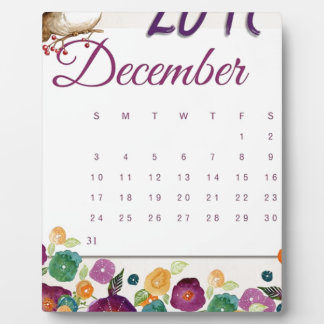 Robin Calendar Plaque