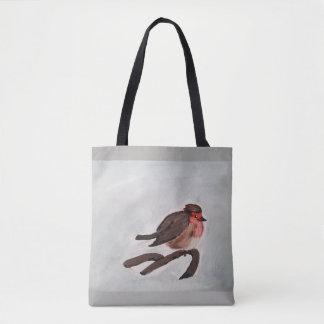 Robin canvas tote bag