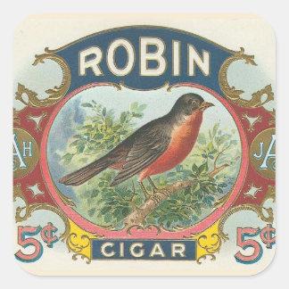 Robin Cigar Square Sticker